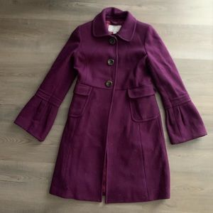 Purple Pea Coat with Bell sleeves SO PRETTY 😍